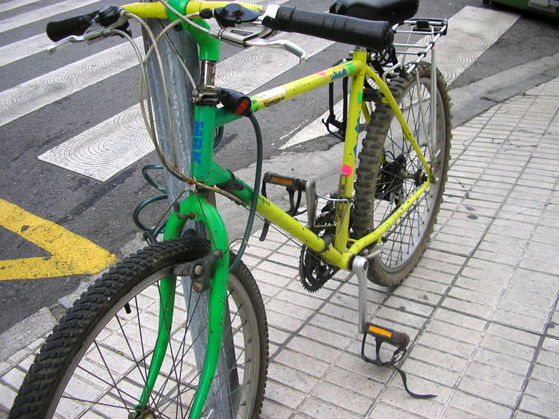 La bici de Carmen antes de ser robada