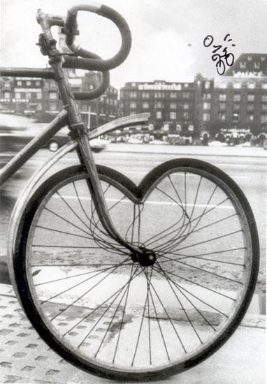 Rueda corazón. Foto encontrada en la web de Josie Dew