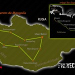 Ruta prevista para el Proyecto Mongolia