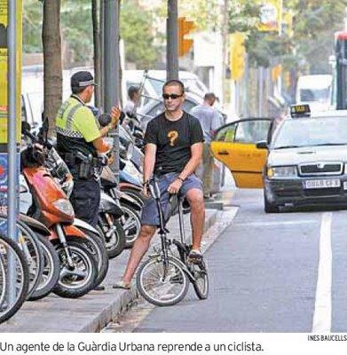 Multas a ciclistas (Qué Barcelona)