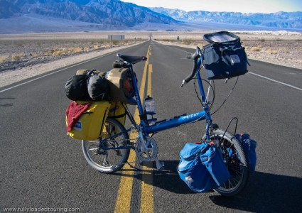 Una Bike-Friday recorriendo California (en Fully Loaded Bikes)