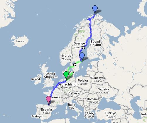 Mapa de la ruta (pincha en el mapa para verlo más grande)