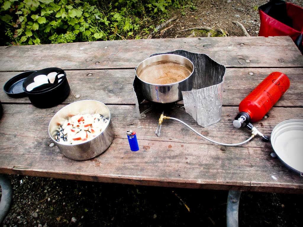 Desayuno en ruta