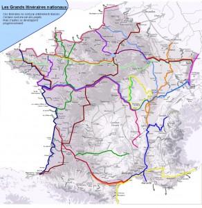 Grandes itinerarios para bici en Francia