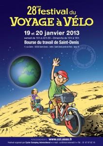 Cartel de la edición 28 del Festival de Viajes en Bici de París
