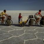 En el carrito, cruzando el salar de Uyuni