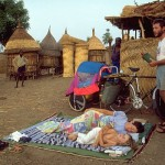 Durmiendo la siesta, en África