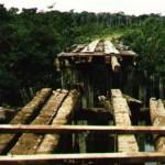 Brasil – Estado de Amazonas – 04-11-1993<br /><br /><br /><br /><br /><br /><br /><br /><br /> Puente roto de la pista entre Sucundurí y Apuí.