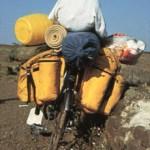 La bici de Larry cargada para el viaje (primeros días)