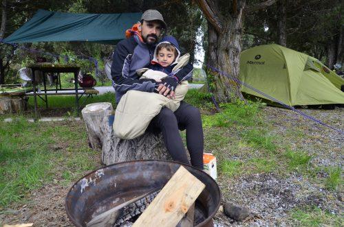 Campamento con frio